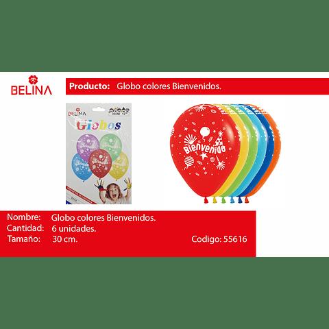 Globos De Latex Bienvenidos 6pcs