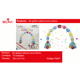 1 set de globos para arcos multicolor 72pcs