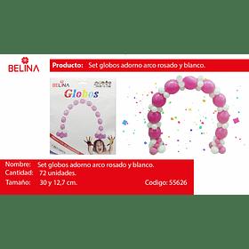 1 Set De Globos Para Arcos Rosa 72pcs