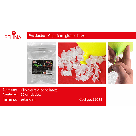 Clip para globos 50pcs