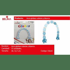 Set De Globos Para Arcos Celeste 72pcs