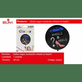 "Globo negro revelacion de sexo wheels or heels 24"""