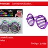 Lentes Metalico Redondos 3pcs
