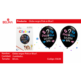 Globo burbuja pink or blue 2pcs