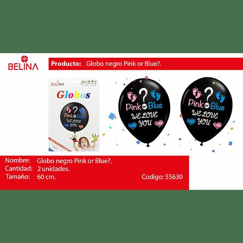 Globo burbuja pink or blue 2pcs