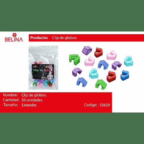 Clip Para Globos Colores Surtidos 50pcs