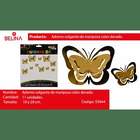 Guirnalda mariposa dorado 11pcs