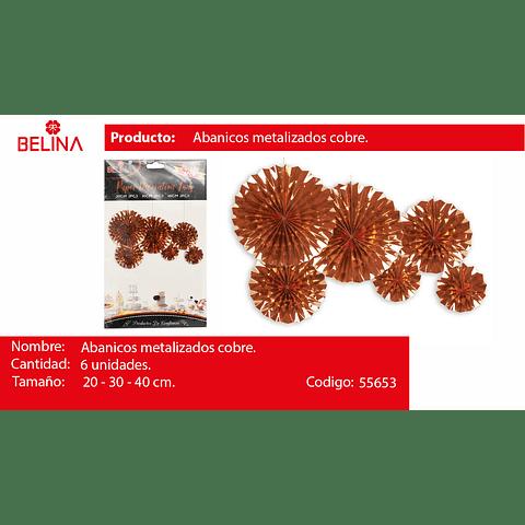 Sets De Abanicos Oro Rosa 6pcs 20cm/2 30cm/2 40cm/2