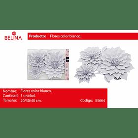 Sets de flores blancas para adornar 3pcs 20/3040cm