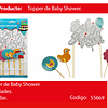 Topper baby shower 9pcs
