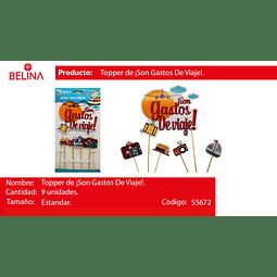 TOPPER SON GASTOS DE VIAJE 9PCS