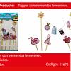 Topper Mujer Tacones/Vestido/Flamingo 9pcs