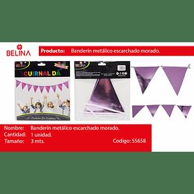 Guirnalda lila/brillante 300cm 12pcs