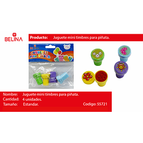 Juguete sello sorpresa 4pcs