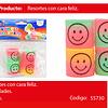 Sorpresa resortes 4pcs colores/pastel carita