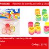Sorpresa Resortes Estrella/Corazon/Circulo 4pcs