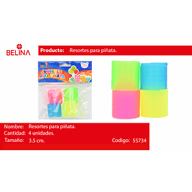 Sorpresa resorte colores 4pcs