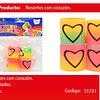 Sorpresa Resortes Corazon/Colores/Pastel 4pcs