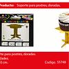 Soporte Para Postres Dorado 3pcs 10x10cm