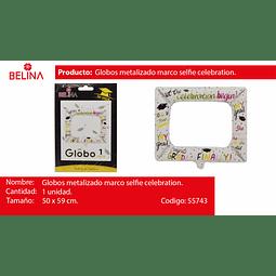 Globo marco selfie graduacion blanco/colores