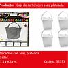 Cajas De Carton Con Asa Plateada 6pcs 7.5x7.5x8.5cm