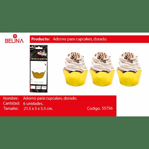 Adornos Para Cupcake Dorado 6pcs 21.5x5x5.5cm