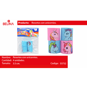 Sorpresa resortes unicornio 4pcs