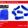 Plumas decorativas azul 50pcs