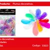 Plumas Decorativas Colores Pasteles 50pcs