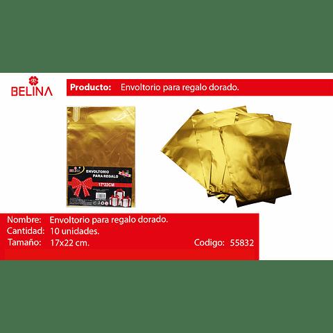 Envoltorio para regalo oro 17*22cm