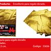 Envoltorio para regalo oro 23x30.5cm