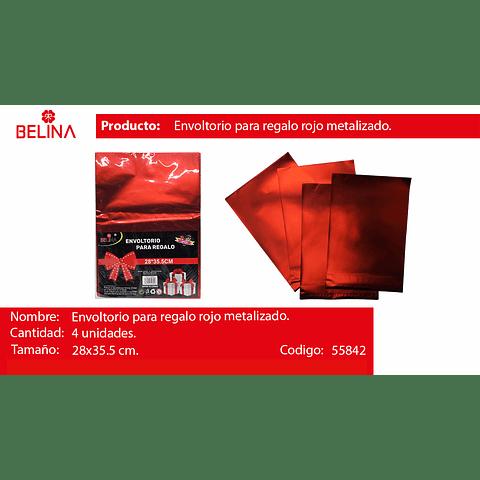 Envoltorio para regalo rojo 28*35.5cm