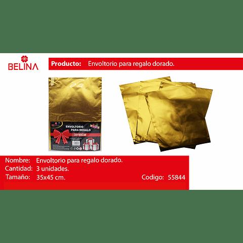 Envoltorio para regalo oro 35*45cm