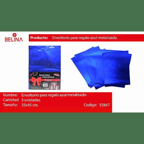 Envoltorio para regalo azul 35x45cm