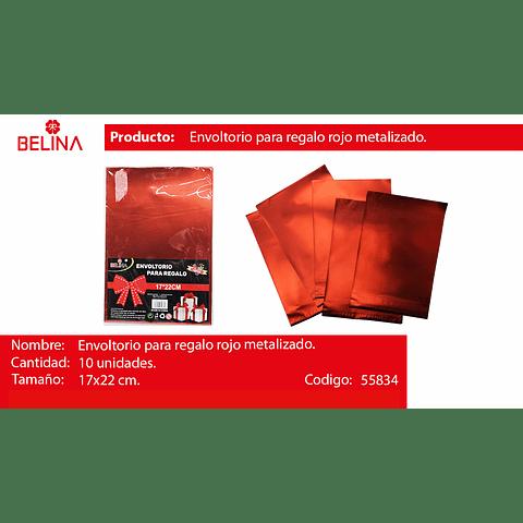 Envoltorio para regalo rojo 17*22cm