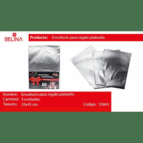 Envoltorio Para Regalo Plata 35x45cm