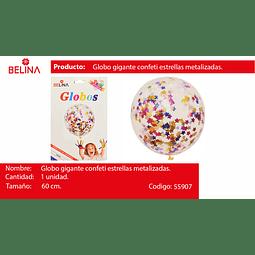 """Globo con challa estrellas/colores 18""""-42cm"""