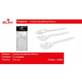 Cucharillas blancas 12pcs