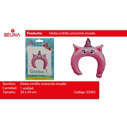 Globo cintillo unicornio 29*29cm 1pcs