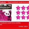 Challa Metalica Estrella Fucsia 30g