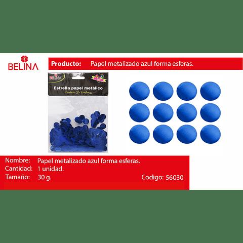 Challa Metalica Redonda Azul 30g