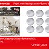 Challa Metalica De Circulos Plateados 30g