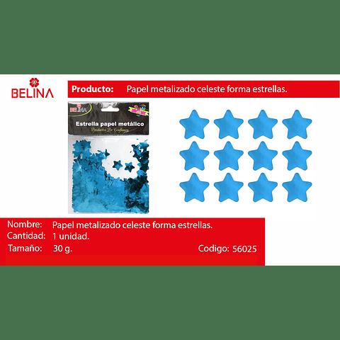 Challa metalica estrella celeste 30g
