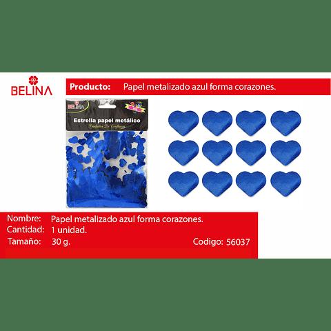 Challa metalica corazon azul 30g