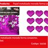 Challa metalica corazon fucsia 30g
