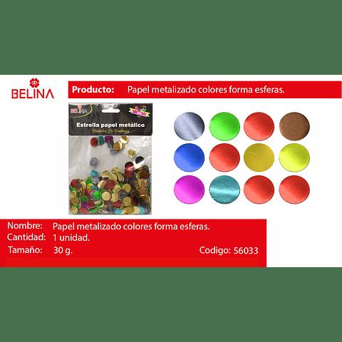 Challa Metalica De Circulos Multicolor 30g