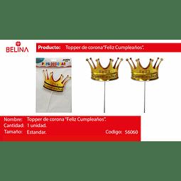 TOPPER CORONA FELIZ CUMPLEA#OS 1PCS
