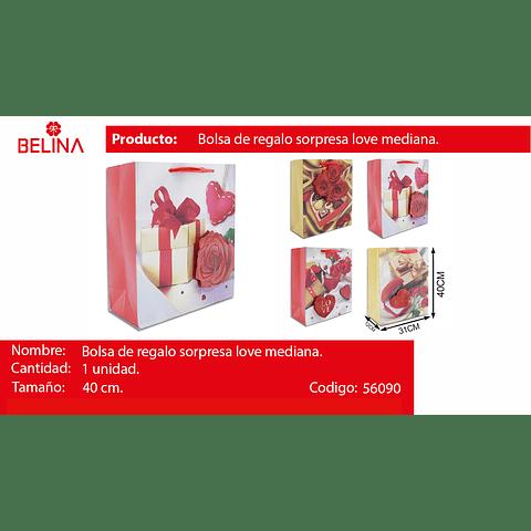 Bolsa de regalo grande rosas mujer 31*40*12cm