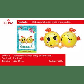 Globo metalico carita emoticones 48*93cm 1pcs