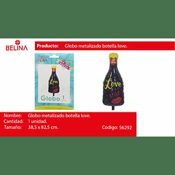 Globo botella love 38.5*82.5cm